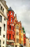 Buildings in the old town of Lubeck - Germany Stock Photos
