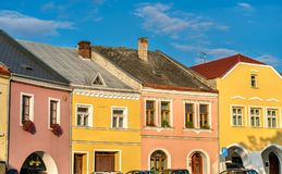 Buildings in the old town of Prerov, Czech Republic. Buildings in the old town of Prerov - Olomouc Region, Czech Republic Stock Photos
