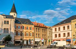 Buildings in the old town of Prerov, Czech Republic. Buildings in the old town of Prerov - Olomouc Region, Czech Republic Royalty Free Stock Photos