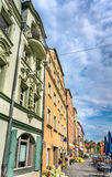 Buildings in the Old Town of Regensburg, Germany Royalty Free Stock Images