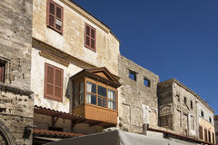 Buildings in Old Town, Rhodes royalty free stock photos