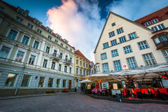 Buildings at Old Town Square at sunset royalty free stock photography