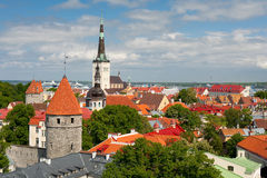 Buildings in Old Town of Tallinn Stock Image