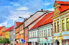 Buildings in the old town of Trebic, Czech Republic. UNESCO heritage site stock photography