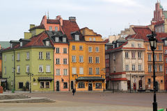 Buildings in Old Town. Warsaw, Castle Square. Poland. Royalty Free Stock Image