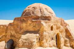 Buildings in Ong Jemel, Tunisia. Ong Jemel is a place near Tozeu Royalty Free Stock Photography