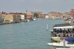 Buildings over canal in Murano Royalty Free Stock Image