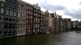 Buildings over river stock photography