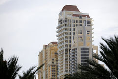 Buildings with palms in the foreground Stock Image