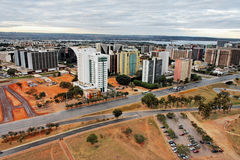 Buildings and Paranoa Lake Brasilia Brazil Royalty Free Stock Photo