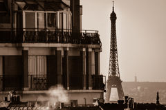 Tour Eiffel from roofs Stock Photo