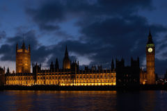 Buildings of Parliament with Big Ban tower. In London UK Stock Photo