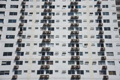 Buildings pattern photo :  Apartment windows and balconies viewe. Apartment windows and balconies viewed Royalty Free Stock Images