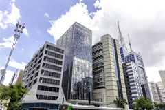 Buildings in Paulista Avenue in Sao Paulo, Brazil Royalty Free Stock Photography