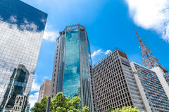 Buildings in Paulista Avenue, Sao Paulo, Brazil Stock Images