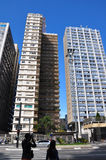 Buildings in Paulista Avenue in Sao Paulo, Brazil Stock Image