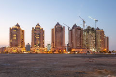 Buildings at The Pearl, Doha, Qatar Stock Photo