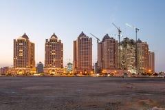 Buildings at The Pearl, Doha, Qatar Stock Photo