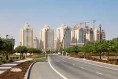 Buildings at The Pearl, Qatar Stock Photography