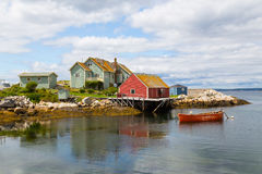 Buildings in Peggy's Cove Stock Photo