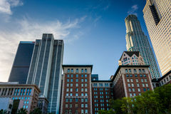 Buildings at Pershing Square, in downtown Los Angeles  Stock Images