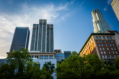 Buildings at Pershing Square, in downtown Los Angeles  Stock Photo