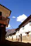 Buildings- Peru. Simple buildings in the traditional Incan village of Calca (Sacred Valley), Peru Royalty Free Stock Photo