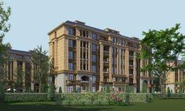 Buildings Photorealistic Render Stock Image