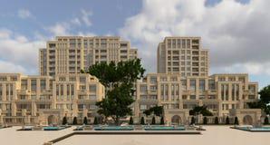 Buildings Photorealistic Render Royalty Free Stock Photos