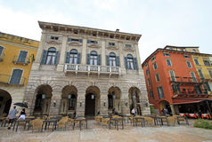 Buildings on Piazza Bra. VERONA, ITALY Royalty Free Stock Images