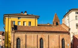 Buildings on Piazza della Repubblica in Ferrara Stock Photography