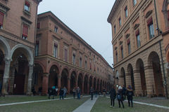 Buildings in Piazza Santo Stefano. Bologna, Emilia Romagna , Italy. Stock Images