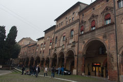 Buildings in Piazza Santo Stefano. Bologna, Emilia Romagna , Italy. Royalty Free Stock Image