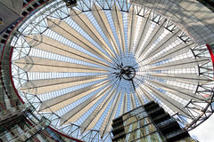 Buildings play at the sony center, Berlin Royalty Free Stock Images