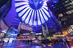 Buildings play at the sony center, Berlin Stock Photography