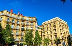 Buildings on Plaza de Bilbao in San Sebastian, Spain Stock Image