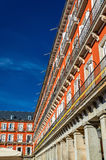 Buildings on the Plaza Mayor of Madrid, Spain Royalty Free Stock Photography