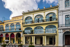 Buildings of Plaza Vieja - Havana, Cuba stock photos