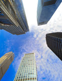Buildings pointing towards the sky Royalty Free Stock Image