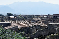 Buildings, Pompeii Archaeological Site, nr Mount Vesuvius, Italy Stock Photo