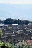 Buildings,  Pompeii Archaeological Site, nr Mount Vesuvius, Italy Royalty Free Stock Images