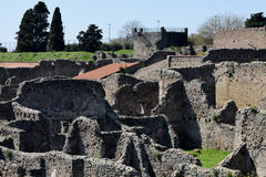 Buildings, Pompeii Archaeological Site, nr Mount Vesuvius, Italy Royalty Free Stock Image