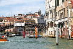 Buildings and Ponte dell'Accademia in Venice, Italy Royalty Free Stock Images