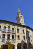 Buildings in Pordenone. Old historic but now abandoned building in the north east Italian town of Pordenone Royalty Free Stock Photo