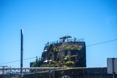 Buildings on the  Port in Funchal on the Island of Madeira Royalty Free Stock Photography
