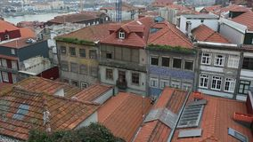 Buildings in Porto old town, Portugal. Travel. stock video
