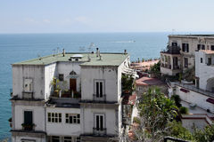 Buildings in Posillipo overlooking Gulf (or Bay) of Naples, Italy. Stock Photography