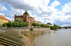 Buildings in Prague. And river Royalty Free Stock Photography