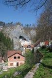 Buildings in Predjama, Slovenia Stock Photo