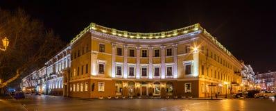 Buildings on Primorskiy bulvar in Odessa, Ukraine Stock Photography